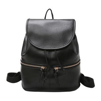 Women Casual Soft Leather Backpack