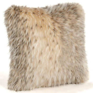 Arctic Leopard Faux Fur Pillows by Fabulous Furs