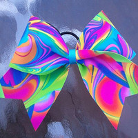 Neon Cheer Bow...Follow me for more:)