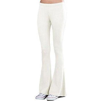 Womens French Terry Bell Bottom Yoga Pants
