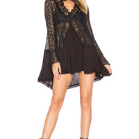 Free People New Tell Tale Tunic in Black
