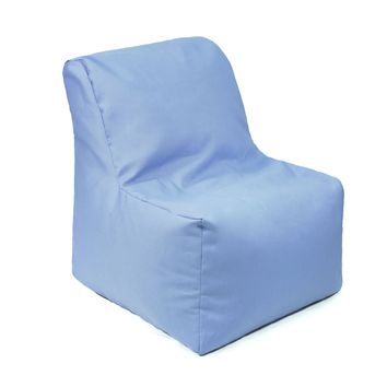 Sectional Denim Look Bean Bag Chair - Blue
