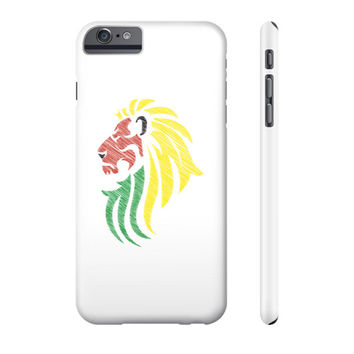 Lion Reggae Music Flag Colors Phone Case