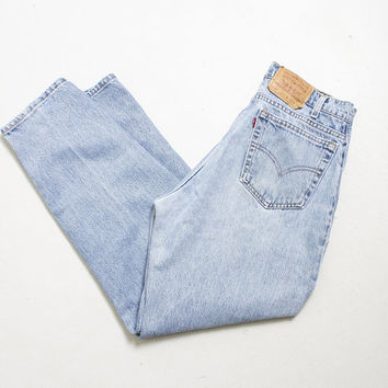 "Vintage Levi's 560 JEANS - Denim Slim Fit Tapered Leg High Waist Mom Jeans 1990s - 32"" x 30"""