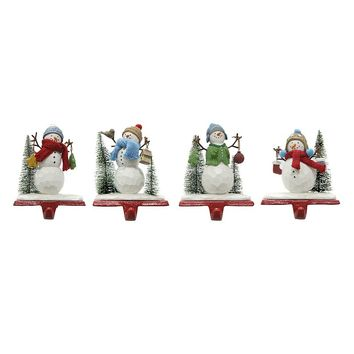 St. Nicholas Square 4-piece Snowmen Christmas Stocking Holder Set