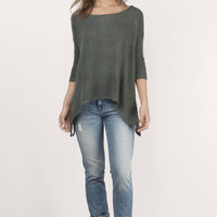 No Regrets Off Shoulder Sweater Top