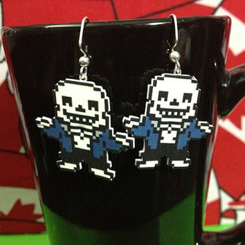 Undertale Earrings - Sans Shrugging