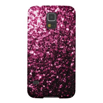 Beautiful Pink glitter sparkles look Samsung Galaxy S5 case by PLdesign