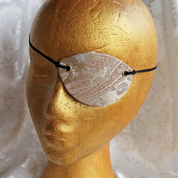 Champagne Brocade Pirate Eye Patch
