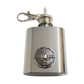 Medieval Shield 1 Oz. Stainless Steel Key Chain Flask