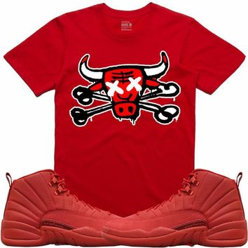 Jordan Retro 12 Gym Red Sneaker Tees Shirt - BULLY BONES RK