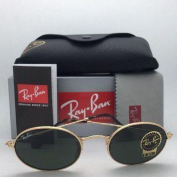 Gotopfashion NEW Ray Ban Sunglasses 3547-N 001 51-21 Round Metal Gold Frame green lens 3447