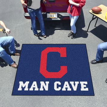 MLB - Cleveland Indians Man Cave Tailgater Rug 5'x6'