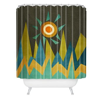 Viviana Gonzalez Retro Landscape II Shower Curtain