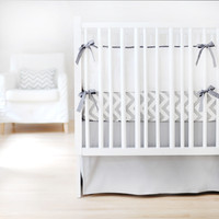 Sweet & Simple Seperates - Gray Solid  Crib Skirt