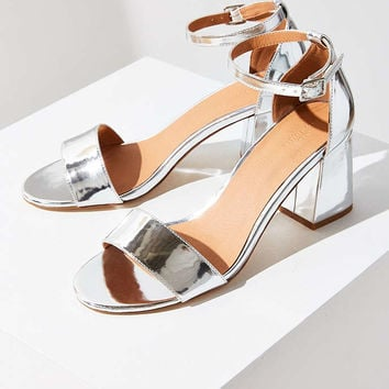 Linda Silver Heel - Urban Outfitters