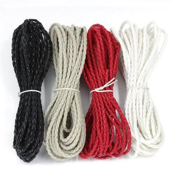 ac spbest SKEINS 5Yards/Lot 3mm Nylon Cords String Color Bracelet Rope Necklace Thread Pu Leather Waxed Rope For Jewelry Materials DIY