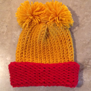 Winnie The Pooh Inspired Childs Teen Adult Knitted Winter Hat