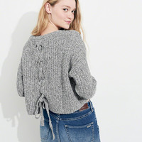 Girls Lace-Up Back Sweater | Girls 40-60% Off Throughout | HollisterCo.com