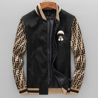 FENDI Hot Sale Popular Men Women Zipper Cardigan Sweatshirt Jacket Coat Windbreaker Sportswear
