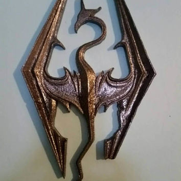 Skyrim dragon wall hanger