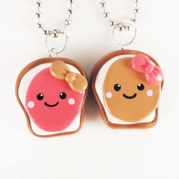Peanut Butter and Jelly Best Friends Necklace Set by MadAristocrat
