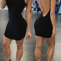 Sexy Women's Summer Bandage Bodycon Backless Evening Party Cocktail Mini Dress