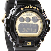 G-Shock Watch 6900 in Black and Gold