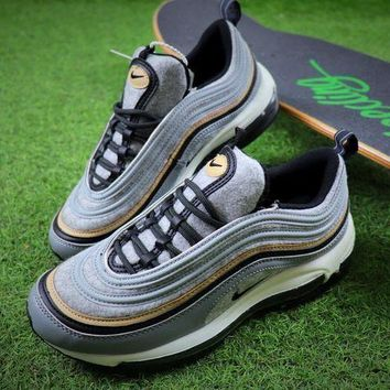 PEAPNW6 Nike Air Max 97 Ultra SE PRM Gray Wool Bullet Sport Shoes Sneaker 924452-001