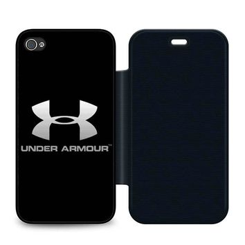 Under Armour Leather Wallet Flip Case iPhone 4 | 4S