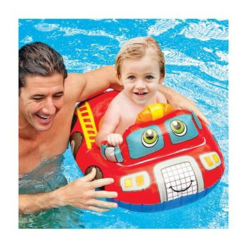 Cute Baby Swimming Float Ring Kids Swimming Pool Seat Swim Training Aid Trainer Float Bath Water Toys for Kids 0-2 Years old