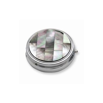 Black White or Pink Mother of Pearl Pill Box