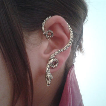 Antique Gold snake ear cuff wrap