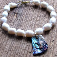 By the Sea - Pearl Abalone Bracelet