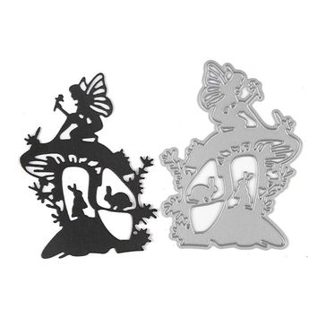 Kids Angel Rabbit Shape Cutting Die Stencil Scrap-booking Craft Toys