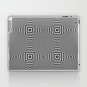 Flickering geometric optical illusion Laptop & iPad Skin by Natalia Bykova