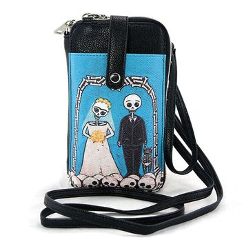 'Till Death Do Us Part Day of the Dead Phone Bag Purse