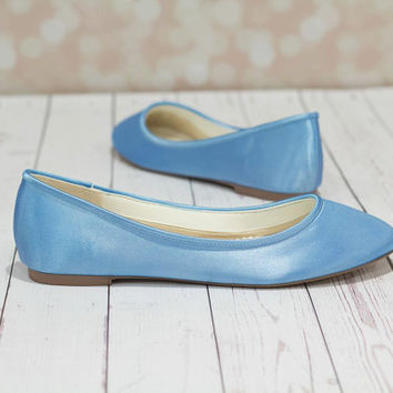 Something Blue Shoes - Shoes - Wedding Shoes - Blue Wedding Shoes - Blue  Flats - 0917463a8e