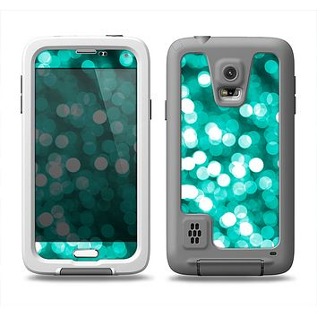 The Unfocused Teal Orbs of Light Samsung Galaxy S5 LifeProof Fre Case Skin Set