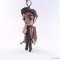 10th Doctor - Doctor Who - Christmas Ornament - Necklace Pendant - Mini Sculpture