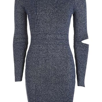 Slash Pleated Knitted Dress | Topshop