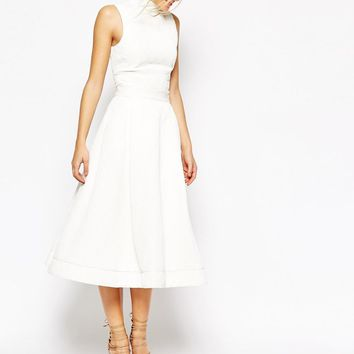 C/meo Collective | C/meo Collective Stay Close Full Midi Skirt in White at ASOS