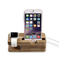 Iphone Wooden Charging Stand Bracket Docking Charge Station Desktop Charger Hold Displayer Lazy Bracket Rack For Apple Watch iphone 6