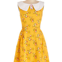 Bea & Dot Vintage Inspired Mid-length Sleeveless A-line California Sunset Dress