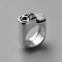 Fashion Silver Punk Lighter Ring