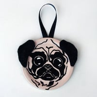 Pug Ornament - Magnet