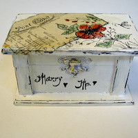 Wedding Ring Pillow Box - Engagement Ring Box - Ring Bearer Box