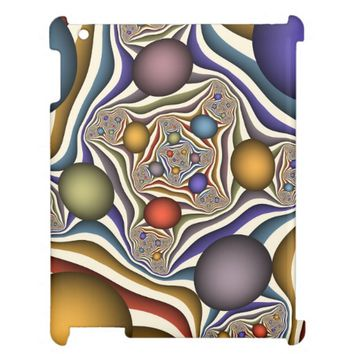 Flying Up, Colorful, Modern, Abstract Fractal Art iPad Covers