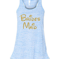 Blue Marble Disney Bridesmaid Tank by jCUBEDk