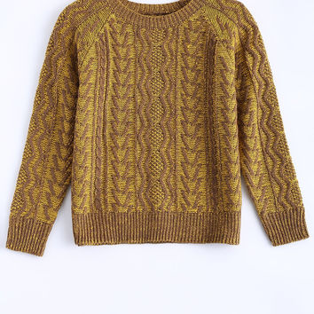 Vintage Round Neck Knitted Sweater